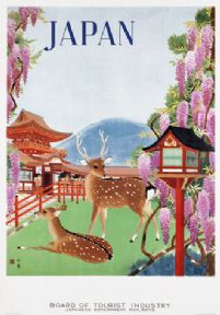 Vintage Travel Poster Board of Tourist Industry Japan